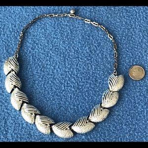 Brush Silver Open Lattice Hearts Necklace Choker